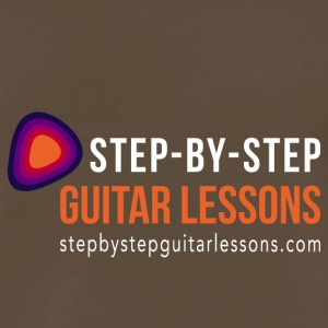 Step-by-step Guitar Lessons Logo White - Men's Premium T-Shirt