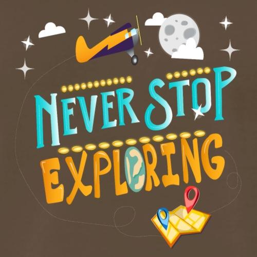 Never Stop Exploring Travel T-shirt - Men's Premium T-Shirt