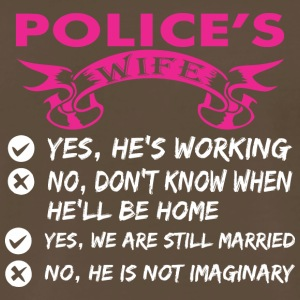 Polices Wife Yes Hes Working - Men's Premium T-Shirt