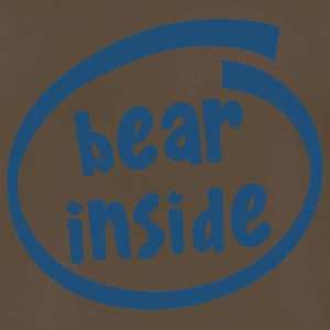 bear inside (1820C) - Men's Premium T-Shirt