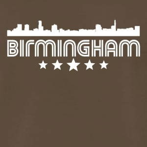 Retro Birmingham Skyline - Men's Premium T-Shirt