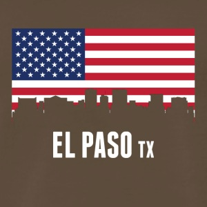 American Flag El Paso Skyline - Men's Premium T-Shirt