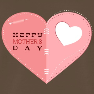 happy_mother-s_day_heart_with_heart - Men's Premium T-Shirt