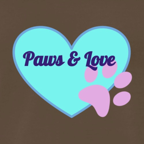 Pastel PawsandLove Heart - Men's Premium T-Shirt
