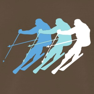 Skiing Clothing - Men's Premium T-Shirt