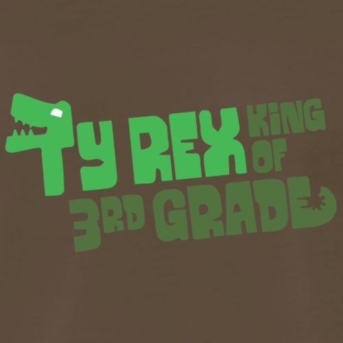 Ty Rex King of 3rd Grade - Men's Premium T-Shirt
