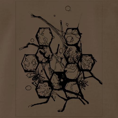 Beehive Watercolor Tattoo - Men's Premium T-Shirt