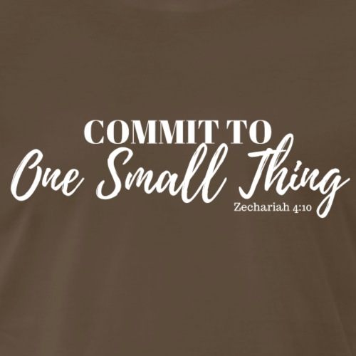 Commit to One Small Thing (white) - Men's Premium T-Shirt