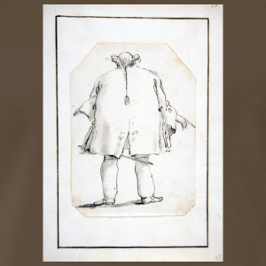 Caricature of a Fat Man, Seen From Behind - Men's Premium T-Shirt