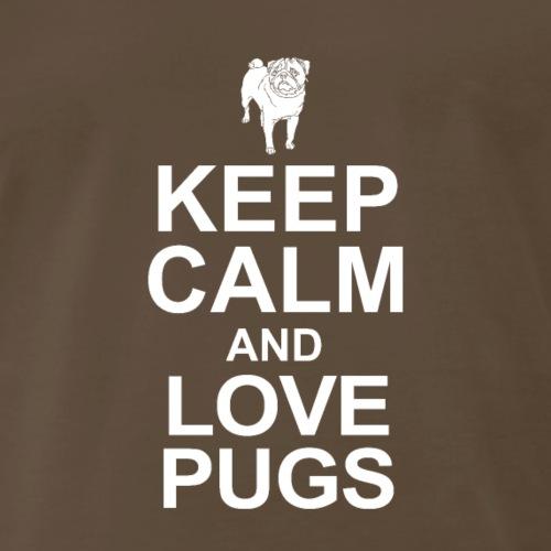 Keep Calm and LOVE Pugs - Men's Premium T-Shirt