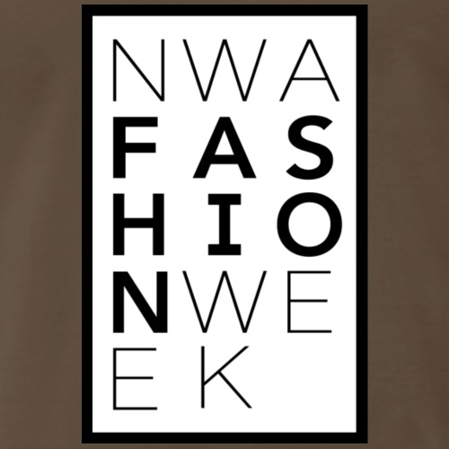 Northwest Arkansas Fashion Week Logo White / Black - Men's Premium T-Shirt
