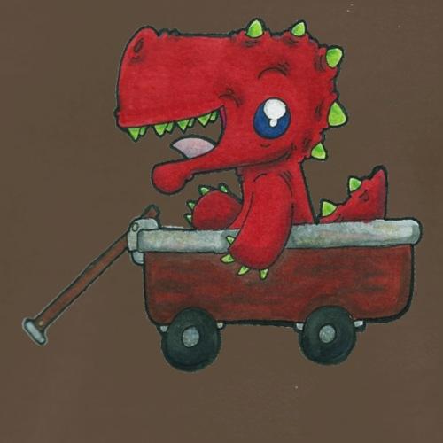 Dragon in a Wagon - Men's Premium T-Shirt