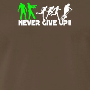 Zombie never give up Fun - Men's Premium T-Shirt