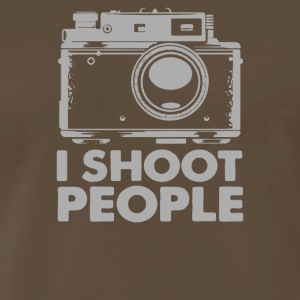 I Shoot People White Camera - Men's Premium T-Shirt
