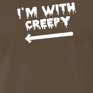 I m With Creepy - Men's Premium T-Shirt