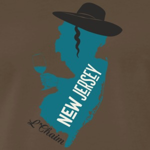 A funny map of New Jersey - Men's Premium T-Shirt