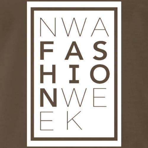 Northwest Arkansas Fashion Week Logo in White - Men's Premium T-Shirt