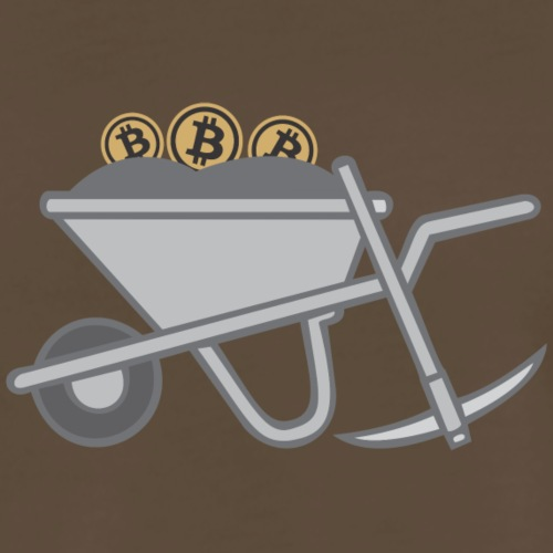 Bitcoin Mining Barrow - Men's Premium T-Shirt