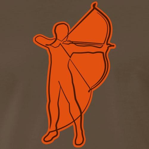 Archer Oneline (Archery by BOWTIQUE) - Men's Premium T-Shirt