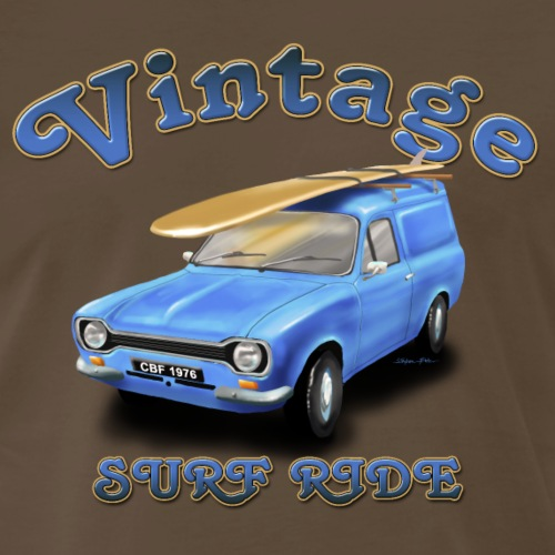 escort panel van Vintage Surf Ride - Men's Premium T-Shirt