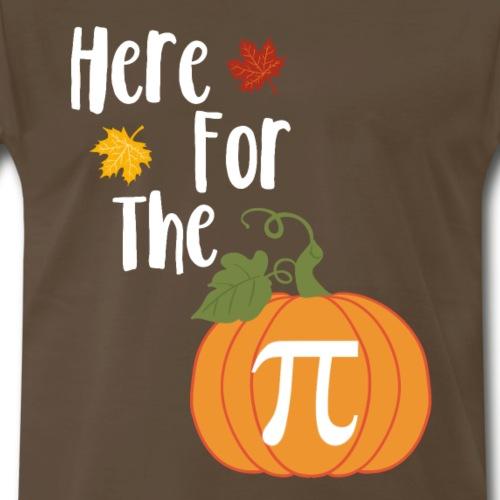 Thanksgiving Design - Here For The Pumpkin Pie - Men's Premium T-Shirt