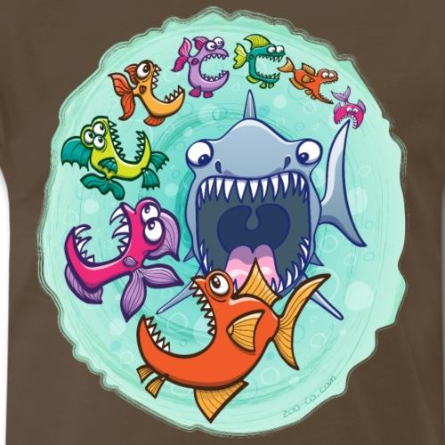Big fish eat little fish and vice versa - Men's Premium T-Shirt