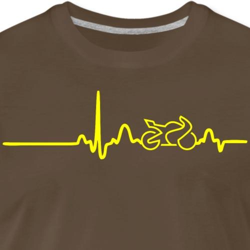 EKG HEARTLINE BIKE yellow - Men's Premium T-Shirt