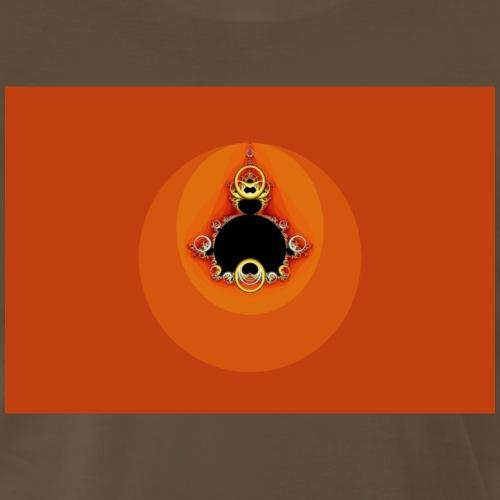 Orange Mandelbrot Fractal - Men's Premium T-Shirt