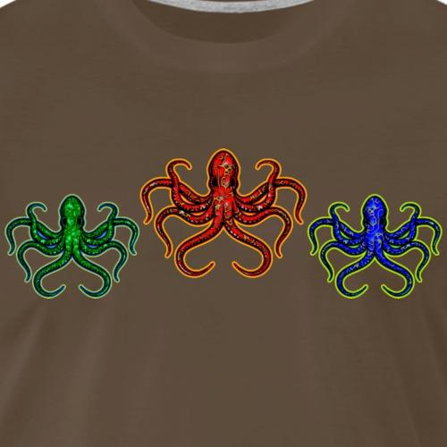 3 Octopuses in 3 Colors - Men's Premium T-Shirt