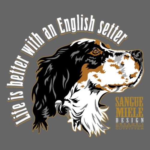 life is better w english - Men's Premium T-Shirt