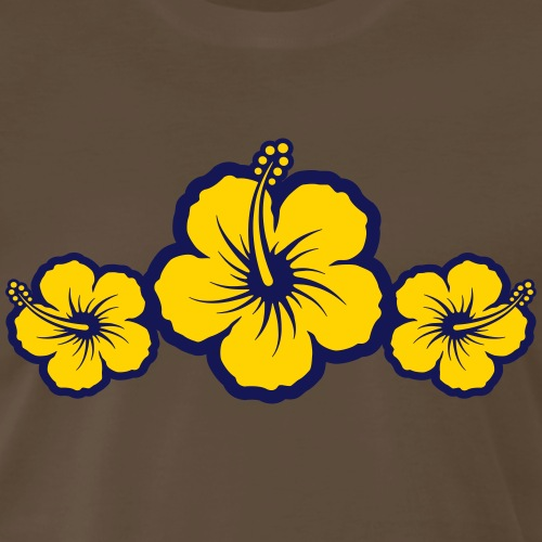 Hawaiian Hibiscus Flowers - Surf & Sun - Men's Premium T-Shirt