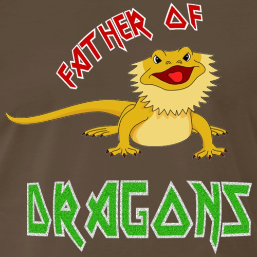 Father of Dragons - For Bearded Dragon Dads - Men's Premium T-Shirt