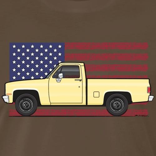 1981-87 American Yellow truck - Men's Premium T-Shirt