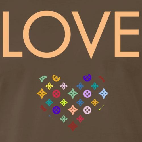 Love - LV Designer Style AA (Gold Beige Letters) - Men's Premium T-Shirt