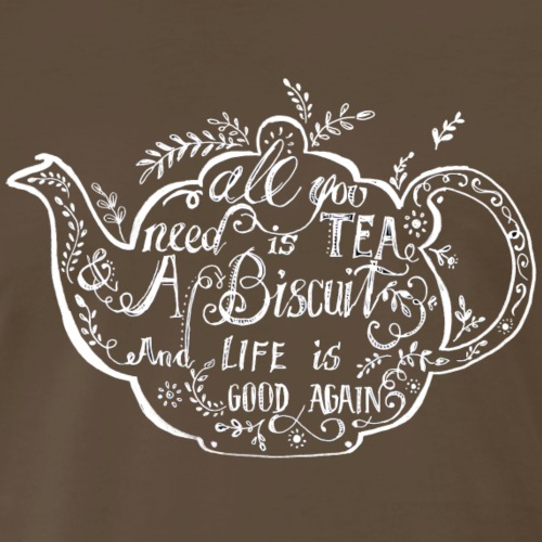 Tea and a Biscuit. - Men's Premium T-Shirt