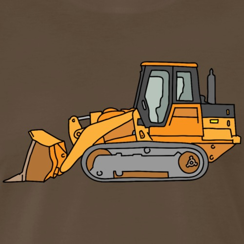 Bulldozer (orange) - Men's Premium T-Shirt