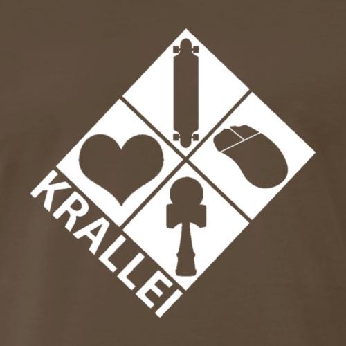 Basic White Krallei Logo - Men's Premium T-Shirt