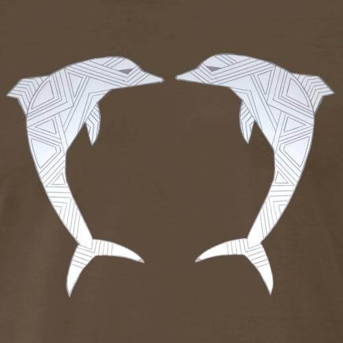 Two dolphins - Men's Premium T-Shirt