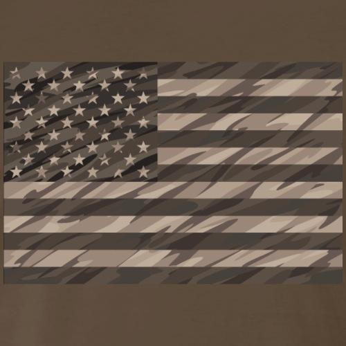 desert cammo flag t - Men's Premium T-Shirt