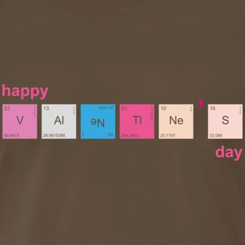 Science Geek Nerd Chemistry Teacher Valentines Day - Men's Premium T-Shirt