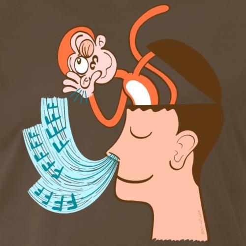 Monkey mind hearing meditator's breath - Men's Premium T-Shirt