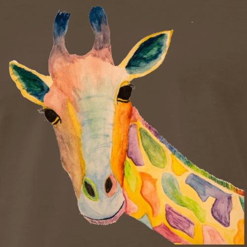 Single Curious Giraffe - Men's Premium T-Shirt