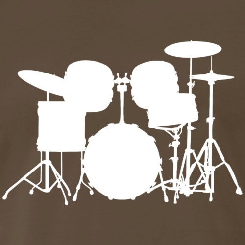 Drumset 1 white - Men's Premium T-Shirt