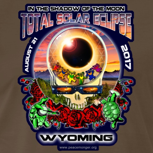 Wyoming Total Solar Eclipse Steal Your Face Shirt - Men's Premium T-Shirt