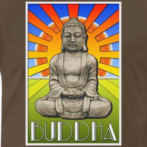 Buddha Art Deco Poster Style Design - Men's Premium T-Shirt