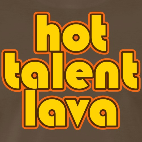 Hot Talent Lava - Yellow Letters - Men's Premium T-Shirt