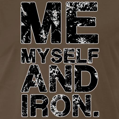 Me Myself Gym Motivation - Men's Premium T-Shirt