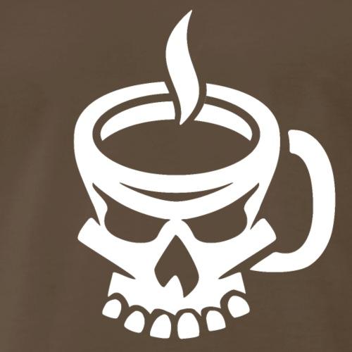Caffeinated Coffee Skull - Men's Premium T-Shirt