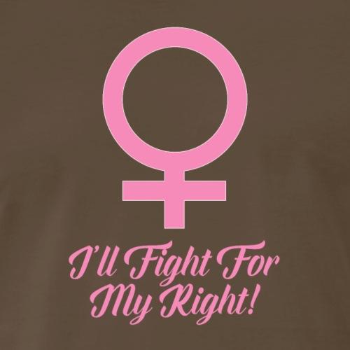 Women's Rights Female Symbol - Men's Premium T-Shirt