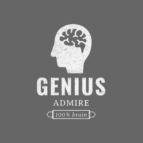 Genius, admire, 100% brain - Men's Premium T-Shirt